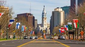 Cidade salão de Philadelphfia Foto de Stock Royalty Free