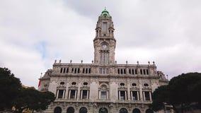 Cidade salão de Porto video estoque