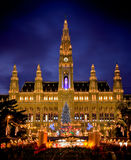 Cidade salão de Viena Foto de Stock Royalty Free