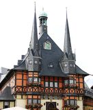 Cidade salão de Wernigerode, Alemanha Foto de Stock
