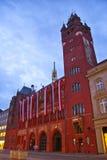 Cidade salão em Basileia imagens de stock royalty free