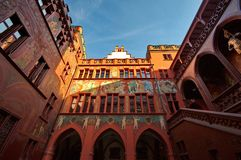 Cidade salão em Basileia Fotos de Stock Royalty Free