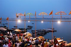 Cidade santa Benaras em India Fotos de Stock Royalty Free