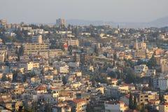 A cidade santa de Nazareth, Galilee, Israel, Terra Santa Imagem de Stock