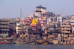Cidade santa de Varanasi, India fotografia de stock royalty free