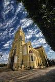 Cidade Santa Rita Do Passa Quatro da catedral, São Paulo, Brasil - cidade Santa Rita Do Passa Quatro da igreja, São Paulo, Bras imagens de stock