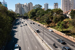 Cidade Sao Paulo da avenida do tráfego Foto de Stock