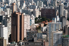 Cidade Sao Paulo do fundo da arquitetura Fotografia de Stock Royalty Free