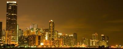 Cidade Scape de Miami Fotografia de Stock Royalty Free