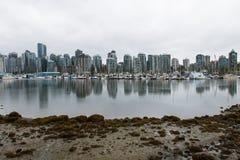 Cidade Scape de Vancôver e skyline Foto de Stock Royalty Free