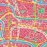Cidade sem emenda do desconhecido do mapa. Fotografia de Stock Royalty Free