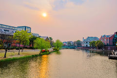 Cidade Shanghai de Tamisa imagens de stock royalty free
