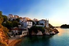 Cidade Skyathos Foto de Stock Royalty Free