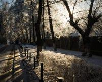 Cidade Snow-covered moscow R?ssia imagem de stock