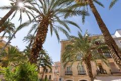 Cidade spain de Alicante no verão Fotografia de Stock