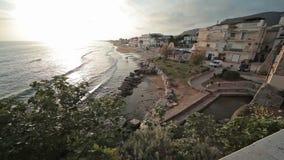 Cidade Sperlonga Itália vídeos de arquivo