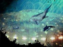 Cidade subaquática Fotografia de Stock Royalty Free
