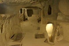 Cidade subterrânea de Kaymakli Fotos de Stock Royalty Free
