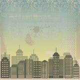 Cidade suja no vetor Fotografia de Stock