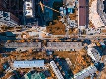 Cidade superior aérea fotografia de stock