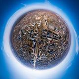 Cidade superior aérea ilustração do vetor