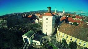 Cidade superior Zagreb - antena video estoque