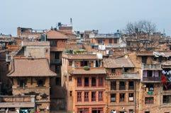 Cidade superpovoado de Kathmandu, Nepal Imagens de Stock Royalty Free