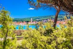 Cidade Supetar na Croácia Foto de Stock