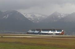 Cidade surpreendente Ushuaia em Argentina fotos de stock royalty free