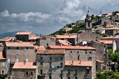 Cidade típica de Córsega Imagem de Stock