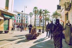 Cidade Tetuan, Marocco, 2013 Mola em África Strets da vista, natureza fotografia de stock