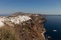 Cidade Thira Fira - a capital da ilha de Santorini Fotografia de Stock Royalty Free