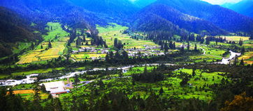 Cidade tibetana Imagem de Stock