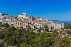 Cidade Tourrettes-sur-Loup em Provence França imagem de stock royalty free