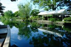 Cidade tradicional Yanagawa do canal da água de Japão fotos de stock
