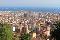 A cidade transcontinental é parcelas de ocupação de uma cidade de mais de um continente Imagens de Stock
