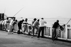 Cidade turca nostálgica da pesca e do verão Imagem de Stock Royalty Free