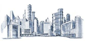 Cidade urbana Imagens de Stock Royalty Free