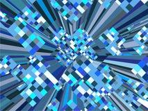 Cidade urbana colorida do mosaico do vetor dos arranha-céus Fotografia de Stock Royalty Free