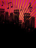 Cidade urbana da música Fotos de Stock