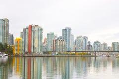 Cidade Vancôver do lado de mar Fotografia de Stock Royalty Free