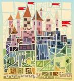 Cidade velha ilustração royalty free