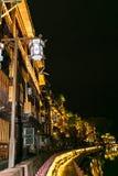 Cidade velha ao lado do rio Foto de Stock