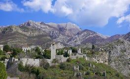 Cidade velha da barra, Montenegro Imagens de Stock Royalty Free