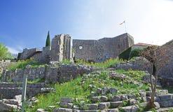 Cidade velha da barra, Montenegro Imagem de Stock