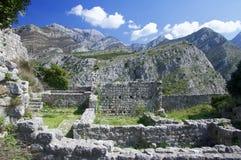 Cidade velha da barra, Montenegro Imagem de Stock Royalty Free