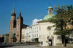 Cidade velha da cidade de Krakow, Polônia Fotografia de Stock