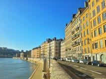 Cidade velha da cidade de Lyon, França Imagem de Stock