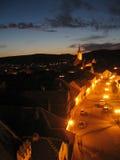 Cidade velha da noite Fotos de Stock Royalty Free