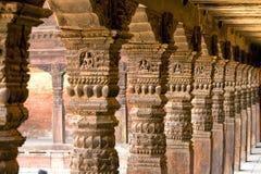 Cidade velha das colunas de madeira. Imagens de Stock Royalty Free